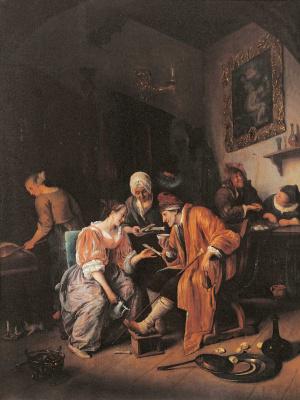 Jan Steen. A sick old man