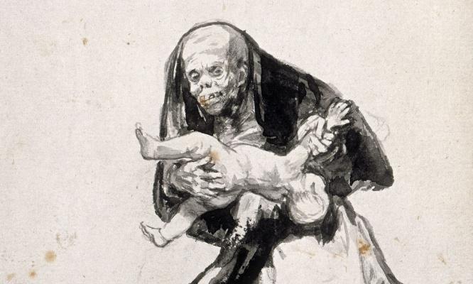 Франсиско Гойя. Злая женщина (фрагмент)