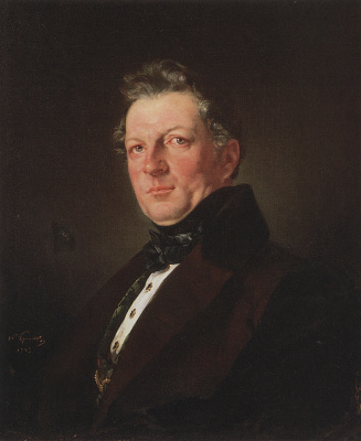 Karl Pavlovich Bryullov. Portrait of architect A. M. Bolotov