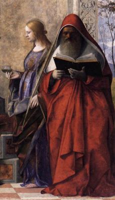 Джованни Беллини. Престол Святого Захария. Фрагмент. Святой Иероним
