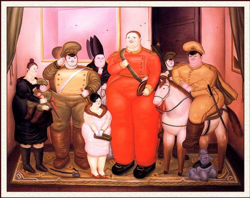 Фернандо Ботеро. Портрет военной хунты