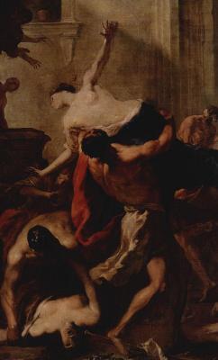 Иоганн Генрих Шёнфельд. Похищение сабинянок, деталь