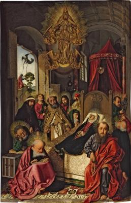 Bartolomé Bermejo. Death and Assumption of the Virgin
