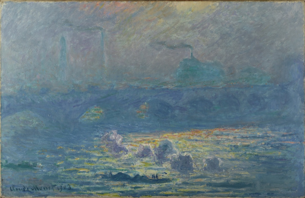 Claude Monet. Waterloo Bridge, sunlight effect