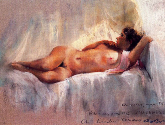 Каэтано де Аркер Буигас. Лежащая обнаженная