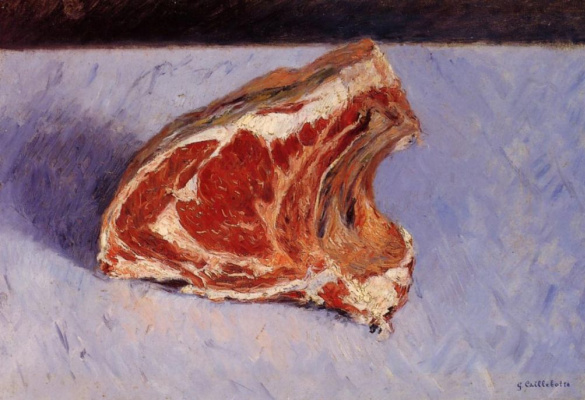 Gustave Caillebotte. Beef ribs