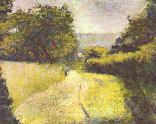 Georges Seurat. The road into the ravine