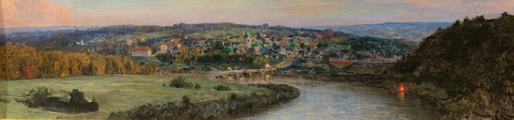 Vasily Dmitrievich Polenov. View of Tarusa in the evening