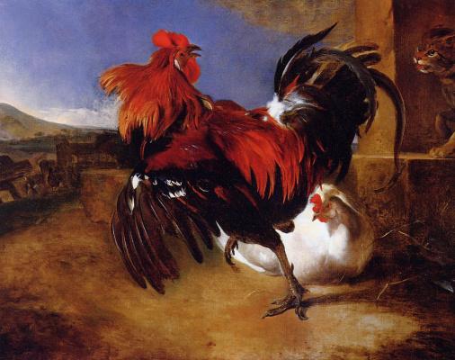 Melchior de Hondecuiter. The poultry yard