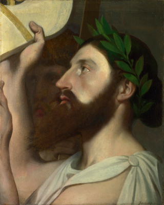 "Jean Auguste Dominique Ingres. Fragment ""Apotos Homer"""
