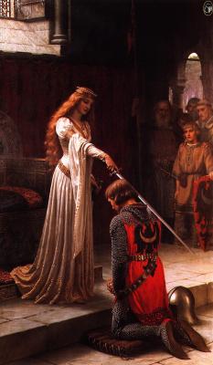 Edmund Blair Layton. Queen Guinevere and sir Lancelot