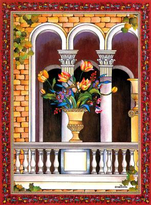 Йошико Абэ. Цветы на балконе
