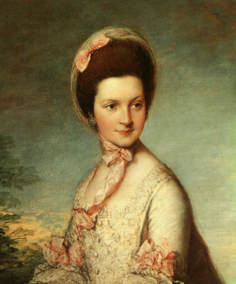 Thomas Gainsborough. Portrait Of Elizabeth Singleton