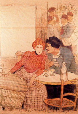 Theophile-Alexander Steinlen. At the bar (Pre-deal)