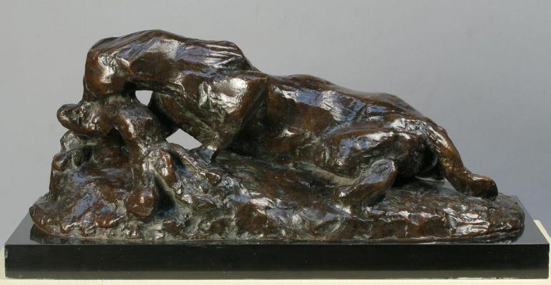 Ягуар, пожирающий зайца (по Антуану-Луи Бари)
