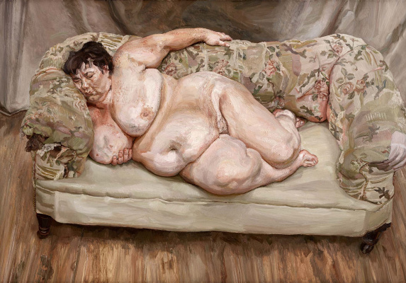 Lucien Freud. The sleeping social worker (sue tilley)