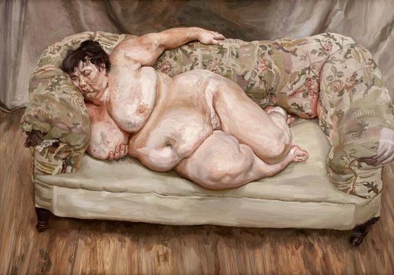 Люсьен Фрейд. Спящая социальная работница (Сью Тилли)