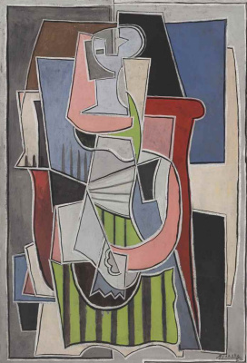 Pablo Picasso. Woman seated in an armchair (Portrait of Olga Khokhlova)