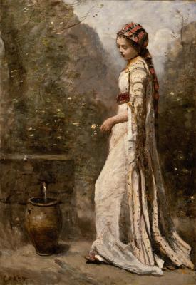 Camille Corot. Jeune Fille grecque à la fontaine