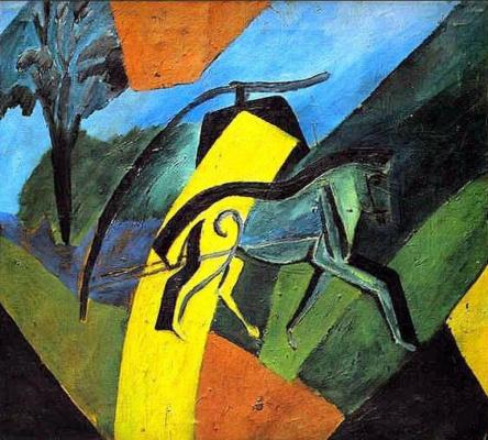 David Davidovich Burliuk. Horse-lightning