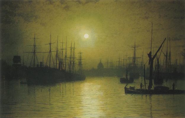 John Atkinson Grimshaw. Twilight on the Thames