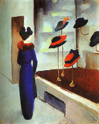 August Macke. The variety of hats