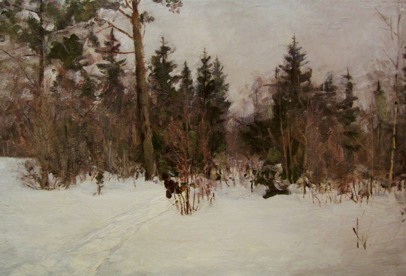 Владимир Георгиевич Гремитских. Зимний день в лесу
