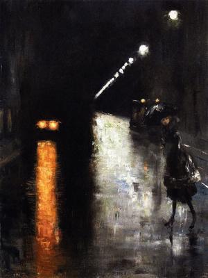 Lesser Uri. Night street scene