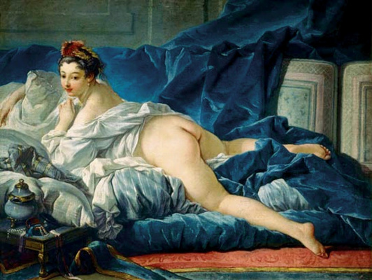 Francois Boucher. Dark-haired odalisque