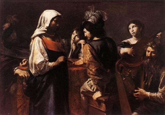 Valentine de Boulogne. The fortune teller