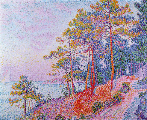Paul Signac. Above Saint-Tropez, the path to custom
