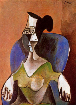 Pablo Picasso. The woman in the chair