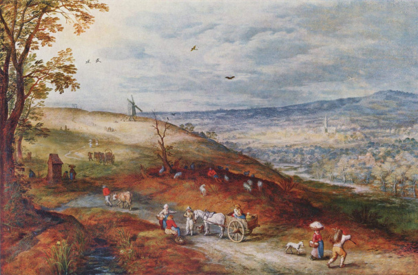 Jan Bruegel The Elder. Landscape with a windmill