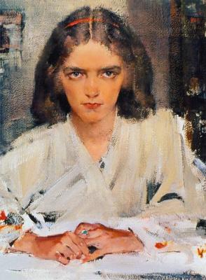 Nikolay Ivanovich Feshin. Ia in a kimono