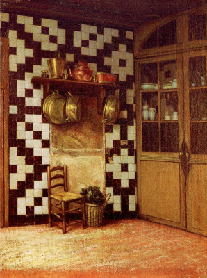 Francis Davis Millet. Flemish kitchen
