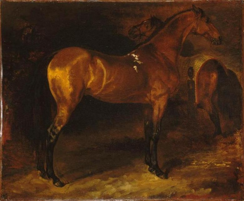 Théodore Géricault. Spanish horses in the stall