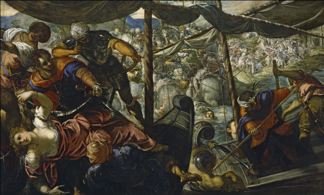 Jacopo (Robusti) Tintoretto. Abduction of Helen