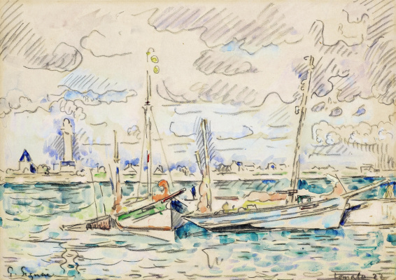 Paul Signac France 1863 - 1935. Lomalo. 1922