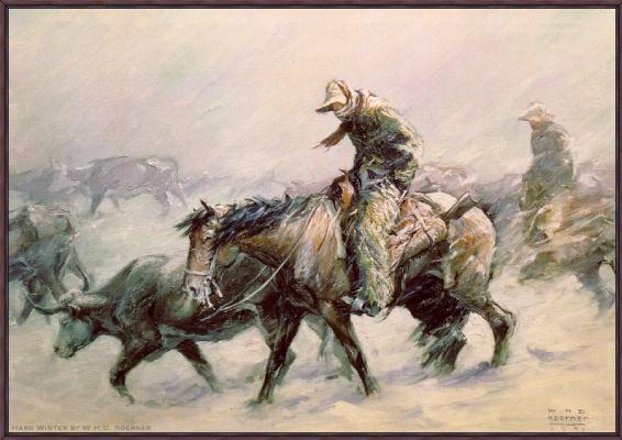 Вильгельм Генрих Кернер. Холодная зима
