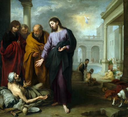 Bartolomé Esteban Murillo. Christ heals a paralytic at the baths