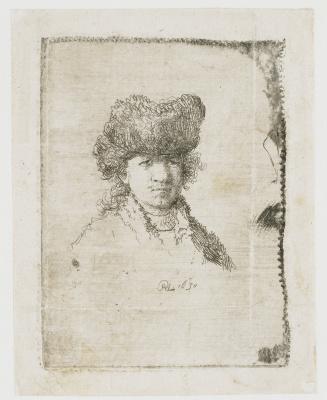 Рембрандт Харменс ван Рейн. Автопортрет в меховой шапке