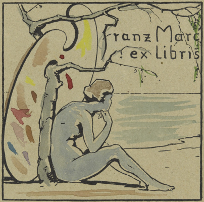 Franz Marc. Bookplate