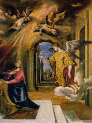 Domenico Theotokopoulos (El Greco). The Annunciation