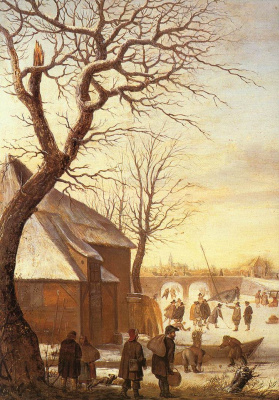 Хендрик Аверкамп. Зимний пейзаж