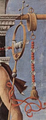 Франческо дель Косса. Алтарь Гриффони, Капелла Гриффони в церкви Сан Петронио в Болонье, правая створка: св. Иоанн Креститель, деталь