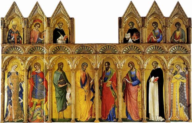 Паоло Венециано. Алтарь Коронование Девы Марии