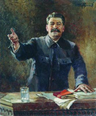 Alexander Mikhailovich Gerasimov. Portrait Of I. V. Stalin