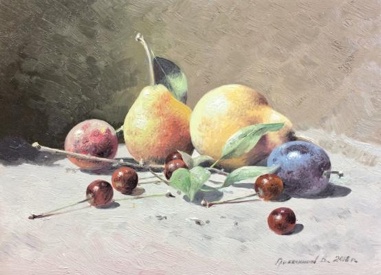 Vasily Ivanovich Gribennikov. Still life with pears