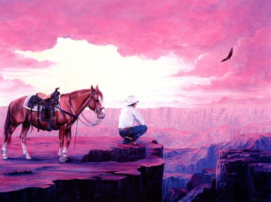 Роберта Санкт Луи. Вид на каньон