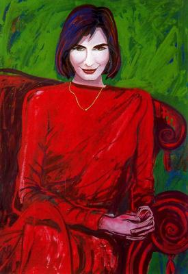 Франциска Муньос. Женщина в красном